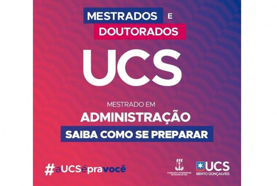 UCS Bento Gonçalves promove Curso Preparatório online e gratuito para o Mestrado em Administração