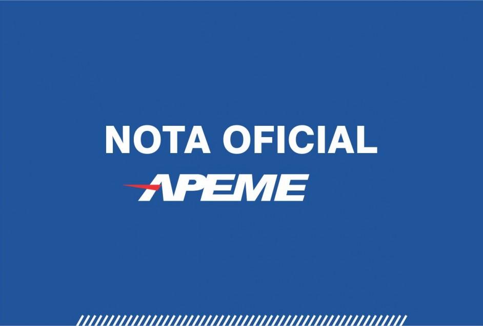 Nota Oficial – APEME