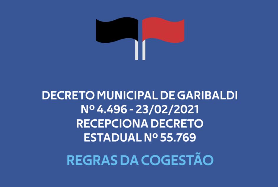 Município de Garibaldi emite Decreto 4.496 - Semana 23 de fevereiro