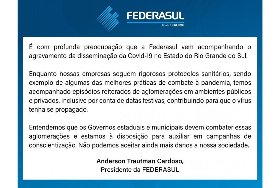 Informamos que a região da Serra Gaúcha está pré-classificada com Bandeira Preta, que entraria em vigor terça-feira 23 de fevereiro.